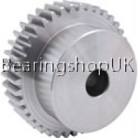 4 Mod x 28 Tooth Metric Spur Gear in Stainless Steel