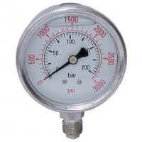 "SSG63-025BG All Stainless Steel Gauges, 1/4"" Bottom Connection"