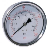 "2038-8476 All Stainless Steel Gauges, 1/2"" Centre Back Connection"