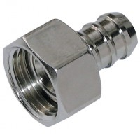 FP3/8-10BX BSPP Female, Flat Face, Brass/Nickel Plated