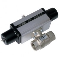 S101H003 Brass Ball Valves, 2 Way Pneumatic Actuation, High Pressure