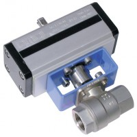 D400H006 Stainless Steel Ball Valves, 2 Way Pneumatic Actuation, High Pressure