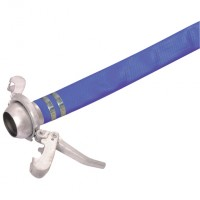 BLH4-25M-ASSY Blue Covered PVC Layflat Hose and Assemblies
