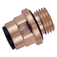 MM010612 Brass Straight Adaptor