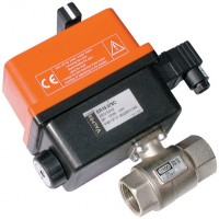 E101H004HV Electrically Actuated, 2 Way Brass Ball Valves