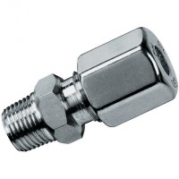 GEV8LR3/8-1.4571 Male Stud Couplings