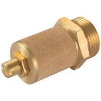 12093200 Adjustable Brass Restricting Silencer