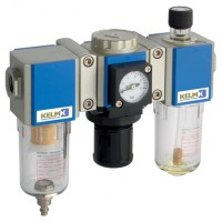 KCS200-08-F-3 200 Series Filter + Regulator + Lubricator Combination Units