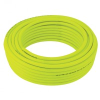 HVIS12-100 Reinforced Polyester High Visibility Yellow PVC Hose