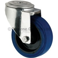 Blue Elastic Rubber - Bolt Hole 100mm Diameter