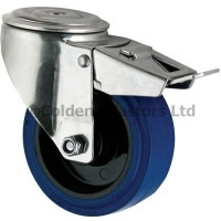 Blue Elastic Rubber - Bolt Hole Braked 100mm Diameter