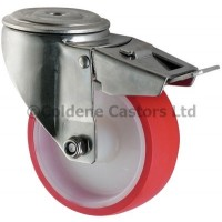 Polyurethane - Bolt Hole Braked 150mm Diameter -  Pilot Bore
