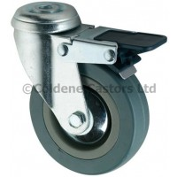 Economy - Swivel Bolt Hole Braked 100mm Diameter