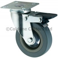 Economy - Swivel Top Plate Braked 100mm Diameter