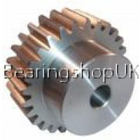 1 Mod x 15 Tooth Metric Spur Gear in Stainless Steel
