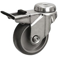 Grey Non Marking - Bolt Hole Braked 50mm Diameter