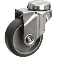 Grey Non Marking - Swivel Bolt Hole 125mm Diameter