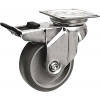 Grey Non Marking - Swivel Lock 125mm Diameter