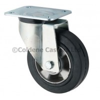 Heavy Duty Elastic Rubber on Aluminium Centres - Swivel 125mm Diameter