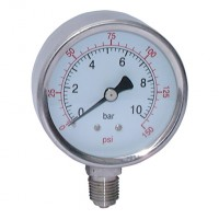 SSG63-400B All Stainless Steel Dry Gauges, Bottom Connection