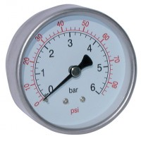 2038-8492 All Stainless Steel Dry Gauges, Centre Back Connection