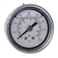 "2038-8633 All Stainless Steel Gauges, 1/4"" Centre Back Connection"