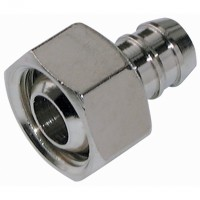 FO3/8-13 BSPP Female Cone Seat, Brass/Nickel Plated