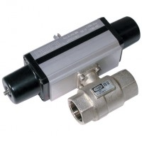 S100H004 Brass Ball Valves, 2 Way Pneumatic Actuation, Low Pressure