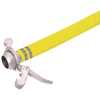 YLH4-25M-ASSY Yellow Covered PVC Layflat Hose and Assemblies