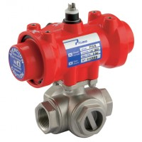 SA-11/4LSS Pneumatic Actuated Stainless Steel 3 Way Valves