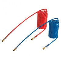 N12C1008010MR Nylon 12 Coil Hose with Tails