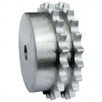 8DR08 Duplex Pilot Bore Sprocket