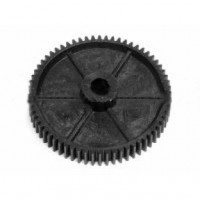 0.5 Mod x 25 Tooth Metric Spur Gear in Hostaform