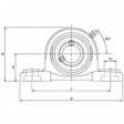 NP2.1/4 - UCP212-36 (2.1/4 inch Pillow Block Bearing )